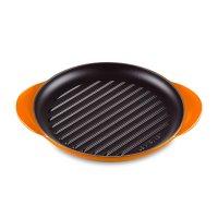Сковорода - гриль, диаметр: 25 см, материал: чугун, цвет: оранжевый, le cr