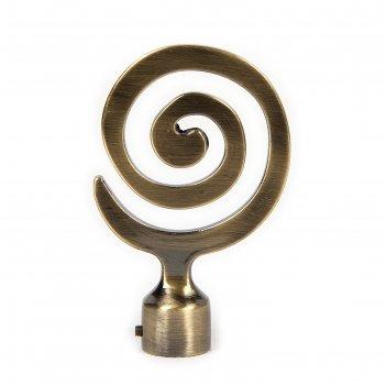 Наконечник «лабиринт», 2 шт, d=16 мм, цвет старое золото