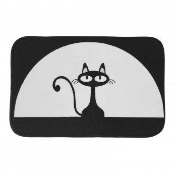 Коврик «чёрная кошка», 40x60 см