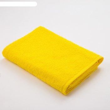 Полотенце махровое экономь и я 70*130 см жёлтый, 100% хлопок, 340 г/м2
