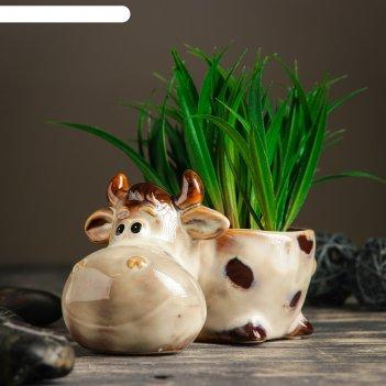 Кашпо керамическое корова 16*10*10 см