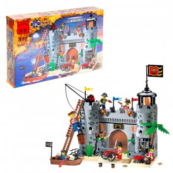 Конструктор пираты пиратская крепость, 366 деталей