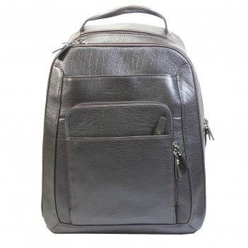 Рюкзак на молнии, 1 отдел, наружные карманы, цвет коричневый