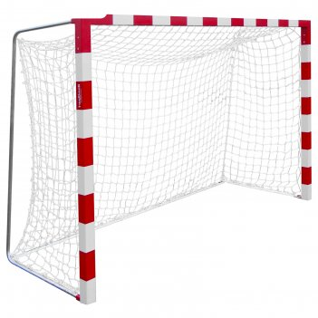 Сетка гандбол/мини-футбол нить 2,2 мм,  яч.100*100, белый/синий