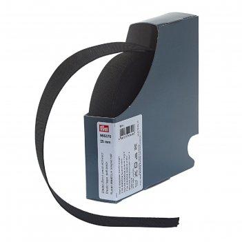 Мягкая эластичная лента 25 мм*10м, цвет черный