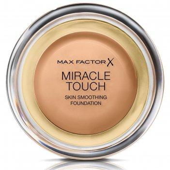 Тональная основа max factor miracle touch, тон 080 bronze