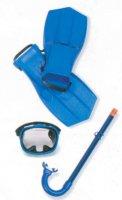 Набор для плавания: маска,трубка, ласты, от 8 лет