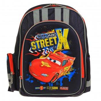 Рюкзак cars с эргономической спинкой из поролона 38*29*13см