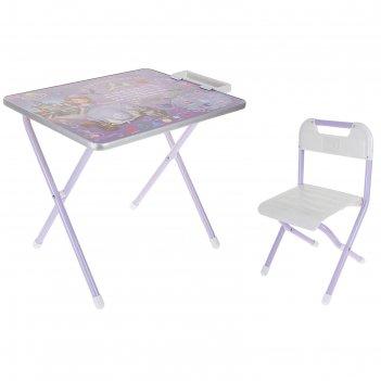 Набор детской мебели дэми №1. софия прекрасная складной: стол, стул и пена