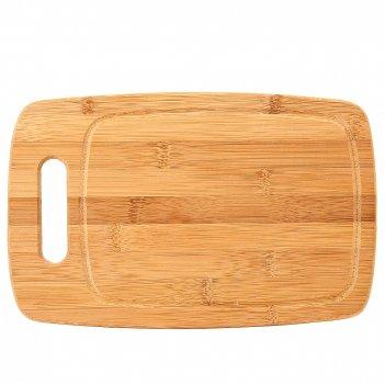 Доска разделочная 27,5*17.5*1,5см. (бамбук обработанный) (упаковочная плен