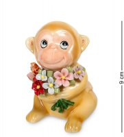 Cms-60/ 8 фигурка обезьяна с букетом (pavone)