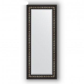 Зеркало с фацетом в багетной раме - черный ардеко 81 мм, 55 х 135 см, evof