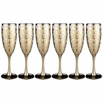 Набор бокалов из 6 шт  бельведер золотой  170 мл