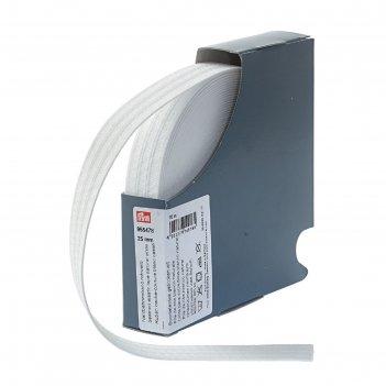 Эластичная лента для уплотнения шва 25 мм 10м, цвет белый