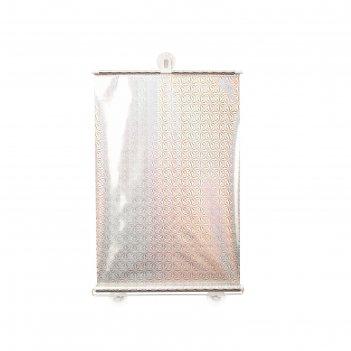 Рулонная штора «отражение», зеркальная, 50х120 см