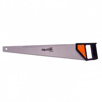 Ножовка по дереву, 500 мм, 5-6 tpi, каленый зуб, линейка, пластиковая руко
