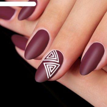 Трафарет для ногтей «треугольник», 9 шт на подложке
