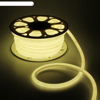 Гибкий неон круглый d 16 мм, 25 метров, led-120-smd2835, 220 v, теплый бел