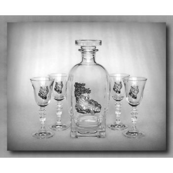 Набор для водки с рюмками на вершине арт. ншт307нв-54