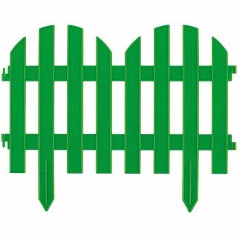Забор декоративный романтика 28 x 300 см, зеленый россия palisad