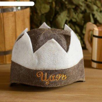 Банная шапка (колпак) корона царь