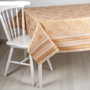 Клеёнка столовая на ткани, ширина 137 см султан, рулон 20 метров