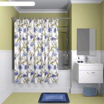 Штора для ванной комнаты iddis p05p118i11, 180x180 см, полиэстер