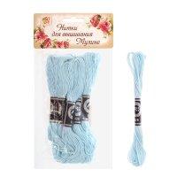 Нитки для вышивания мулине 8 м №3841. цвет светло-голубой