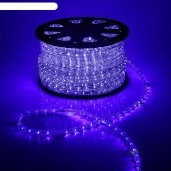 Led шнур 13 мм, круг, 100 м, кажд.6 мерц, 2w-led/м-36-220v. + н-р д/подкл.