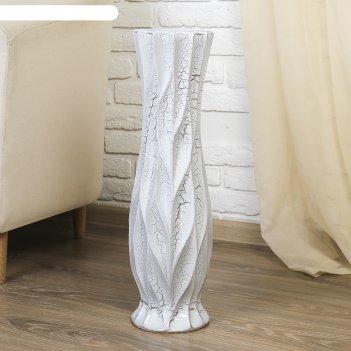 Ваза керамика напольная айсберг d-11см;60 см, круглая талия