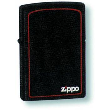 218zb зажигалка zippo blk w/border zippo