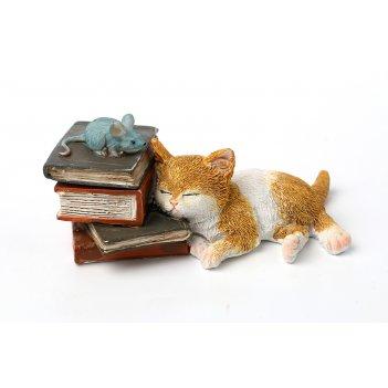 Фигурка  кошка с мышкой высота=4 см.