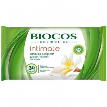 Влажные салфетки для интимной гигиены bioсos, 15 шт.