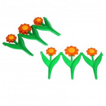 Забор декоративный оранжевая ромашка, комплект 5 секций