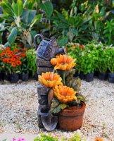 Садовый фонтан  подсолнух