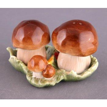 """Набор для специй 2 пр.""""грибы"""" высота=7,5 см."""