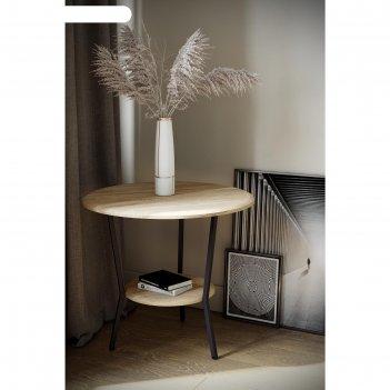 Стол журнальный «шот», 550 x 550 x 500  мм, цвет дуб сонома