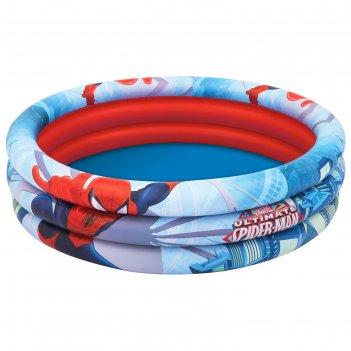 Детский круглый бассейн 122х30см, 200 л, spider-man от 3-х лет