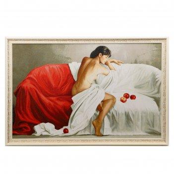Гобеленовая картина 113х75см  белое и красное №2