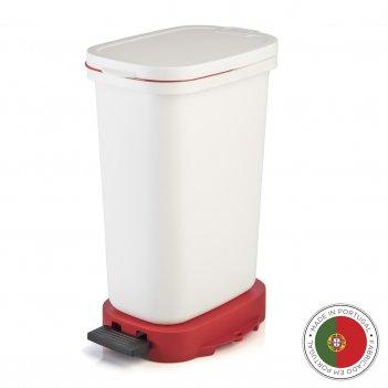 Мусорный бак с педалью be-eco 20л, белый-красный