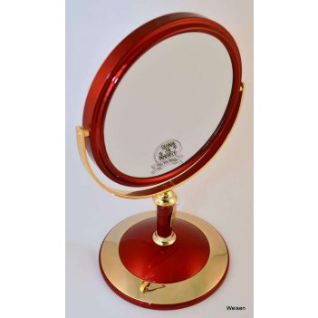 Зеркало* b68021 ruby/g red&gold настольное 2-стор. 5-кр.ув.