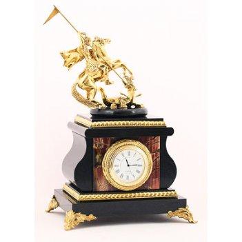 Настольные часы георгий победоносец яшма арт.3150