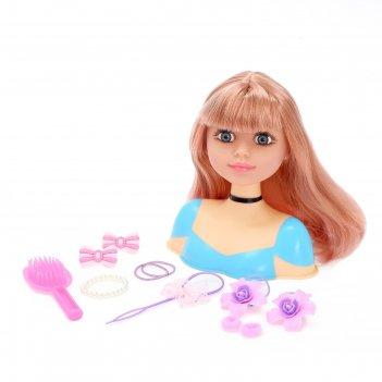 Кукла-манекен для создания причесок бетси, с аксессуарами