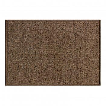 Коврик придверный детройт, полипропилен, 50х80 см, коричневый