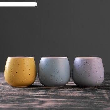 Кашпо керамическое круглое 8*8*8 см.микс