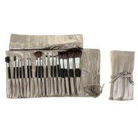 Набор для макияжа 18 предметов, раскладной, на завязках, цвет серый