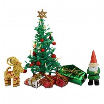 Набор мебели для кукольного домика «рождественский набор»