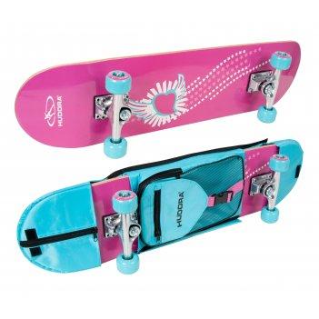 Скейтборд hudora skate wonders abec 3 с рюкзаком