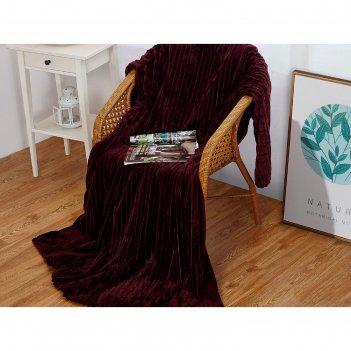Плед carre, размер 150 x 200 см, цвет сливовый, велсфот