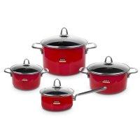 Набор посуды из 4-х предметов, цвет красный, серия metallica solid, kochst